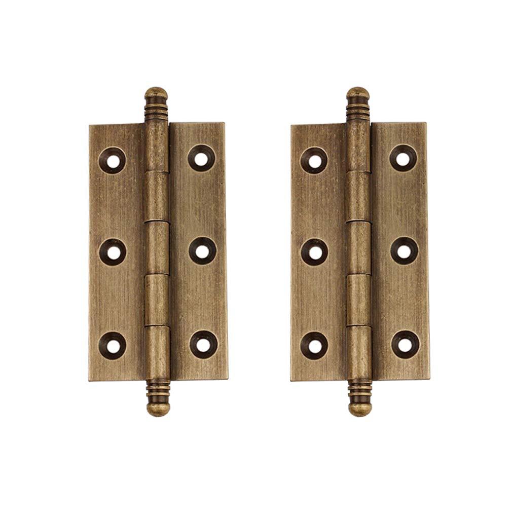 joyas 2 bisagras de lat/ón puro antiguo para muebles Tiazza armarios cajones puertas accesorios decorativos