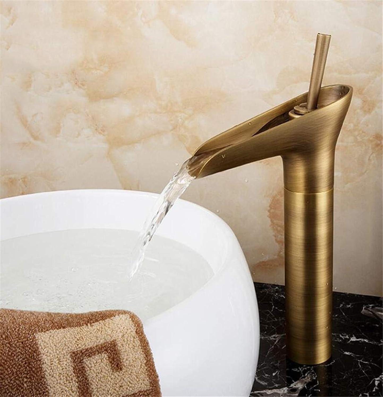 Antike Messing Wasserhahn Einzigen Handgriff Vanity Sink Mischbatterie Deck Montieren Toilette Wasserhahn Duscharmatur