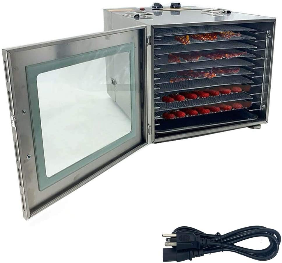 TABODD 1000W Shipping included Premium Food Dehydrator Machine Stainless Steel Selling 10
