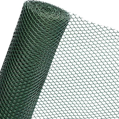 HaGa-Welt RK3/130HD - Rete di plastica per giardino, cantiere, rinforzo 1,3 m di larghezza, grigio scuro (al metro)