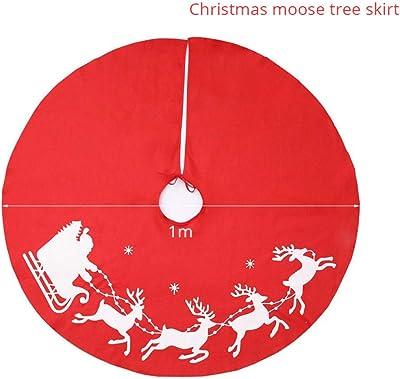 Clever Creations Motivo Tradizionale Design Tradizionale Natalizio in Iuta con Orlo Scozzese Ideale per Pavimenti puliti 91 cm Gonna per Albero di Natale