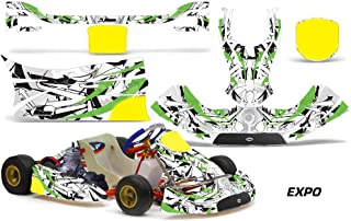 AMR Racing Go Kart Graphics kit Sticker Decal Compatible with KG Freeline Birel Cadet - Expo Green