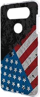 スマホケース ハードケース LG V20 PRO L-01J 用 [星条旗・ブラック] ビンテージ 星柄 国旗 アメリカ エルジー ブイトゥエンティ プロ docomo スマホカバー 携帯ケース 携帯カバー usa_00r_h164@03