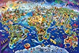 Wooden puzzles 1000 pieces puzzles for Adults jigsaw puzzles for adults,Romantic Corner,Puzzles and Games for Adults,Hd Picture Printing,Wooden Personalised Assembling Jigsaw Fun Game-World Animal Map