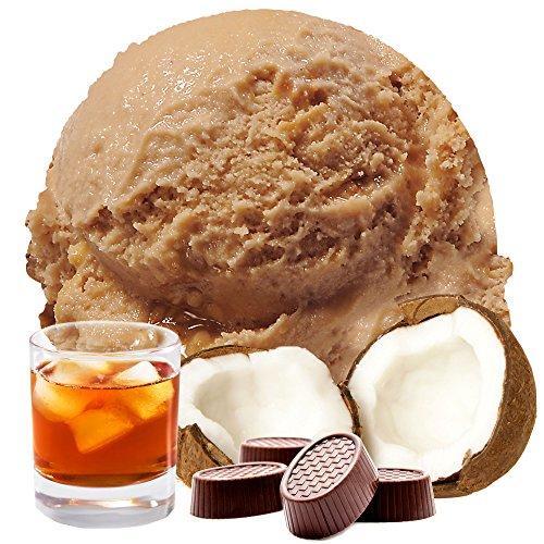 Kokos Rum Praline Geschmack 333 g Gino Gelati Eispulver für Ihre Eismaschine