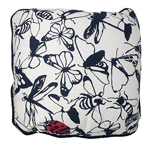 UK Care Direct Coccinelle Papillon Libellule 43 cm Coton Housse de Coussin