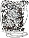 styleBREAKER Mini Bag Umhängetasche mit Wende-Pailletten, Schultertasche, Handtasche, Tasche, Damen...