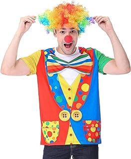 Disfraz de Payaso para Hombre Camiseta con Peluca Nariz