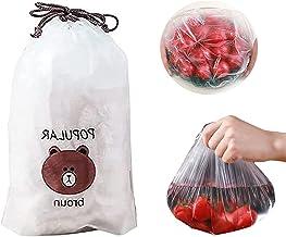 Fresh Keeping Bags 100pcs Adjustable Elastic Food Storage Covers Reusable Plastic Sealing Elastic Stretch Bowl Lids, Unive...