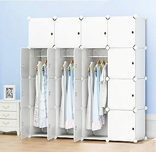 comprar comparacion PREMAG - Guardarropa portátil para colgar ropa, armario combinado, armario modular para ahorrar espacio, organizador ideal...