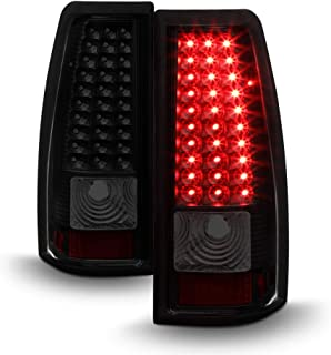 ACANII - For Black Smoke 1999-2002 Chevy Siverado 1500 GMC Sierra LED Tail Lights Brake Lamps