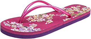 Voberry Women Ladies Girls Floral Flat Flip Flops Casual Sandals Slippers Beach Shoes