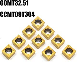 OSCARBIDE Carbide Turning Inserts CCMT32.51 (CCMT09T304),CCMT Insert Mutilayer Coated CNC Lathe Inserts for Lathe Turning Tool Holder Replacement Insert, 10 Pieces