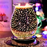 Yezytech 3D aromaterapia lámpara efecto fuegos artificiales, lámpara...