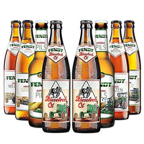 Fendt Bierpaket von BierSelect - 8 Fendt Biere in einem Paket - für Fans der Landwirtschaft, perfektes Geschenk für Bierliebhaber