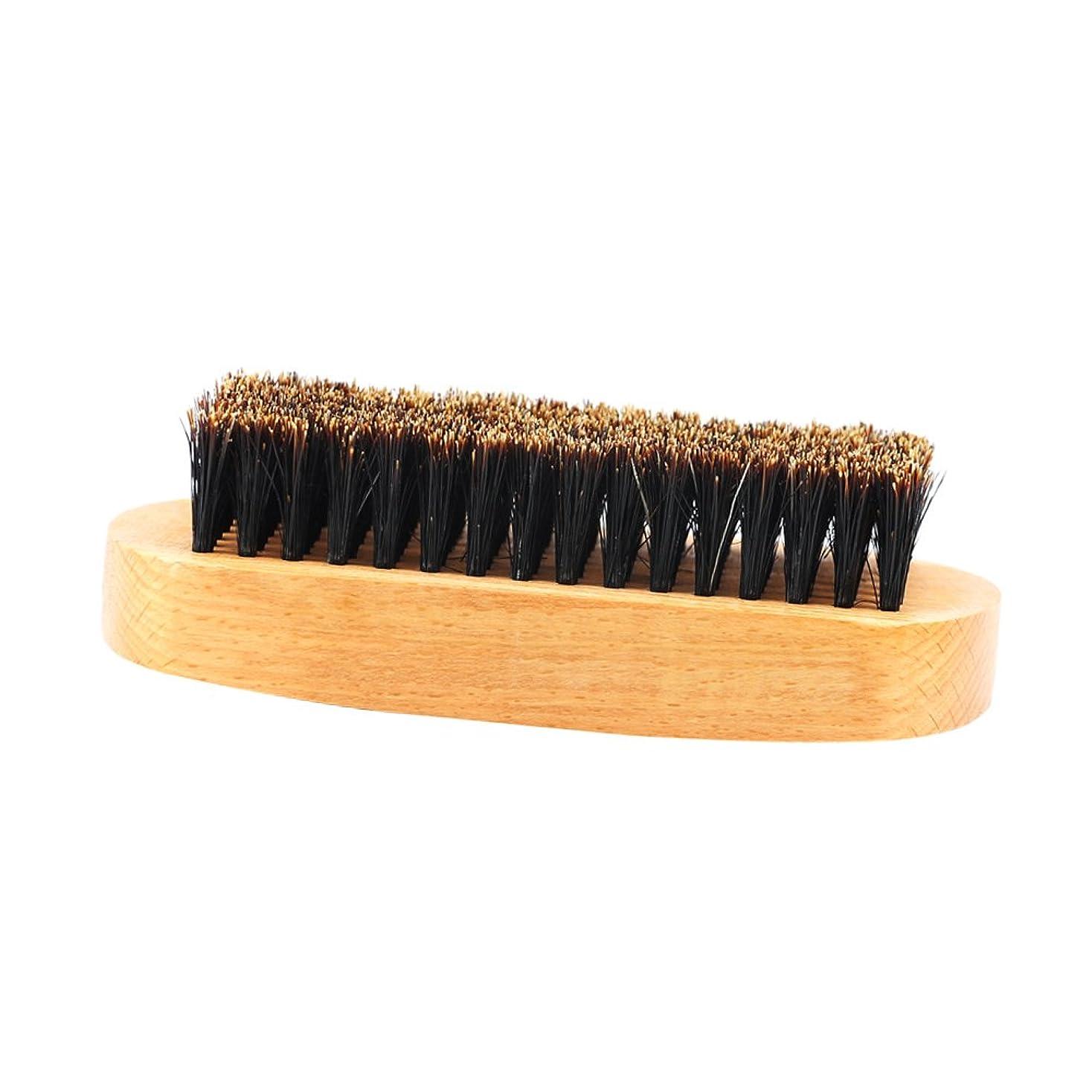合わせてこする誇大妄想人の口ひげのスタイリングの手入れをすることのための木のハンドルのひげのブラシのイノシシの剛毛 - #1