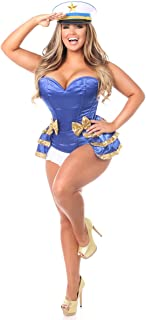 Top Drawer 4 PC Pin-Up Sailor Sequin Corset Costume