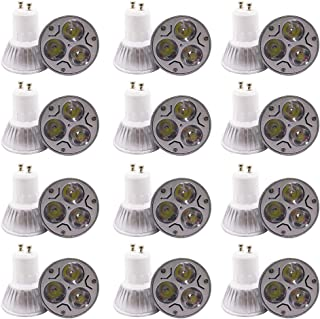GU10LED blanca fría luz bombilla LED lámpara AC 220V 12unidades), Gu10 3w 3led, GU10, 3.00W, 220.00V