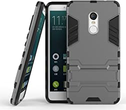 DWaybox Xiaomi Redmi Note 4/Note 4X Armor Case 2 in 1 Hybrid Heavy Duty Hard Back Cover Case with Kickstand for Xiaomi Redmi Note 4X/Xiaomi Redmi Note 4/Hongmi Note 4 5.5 Inch (Gray)