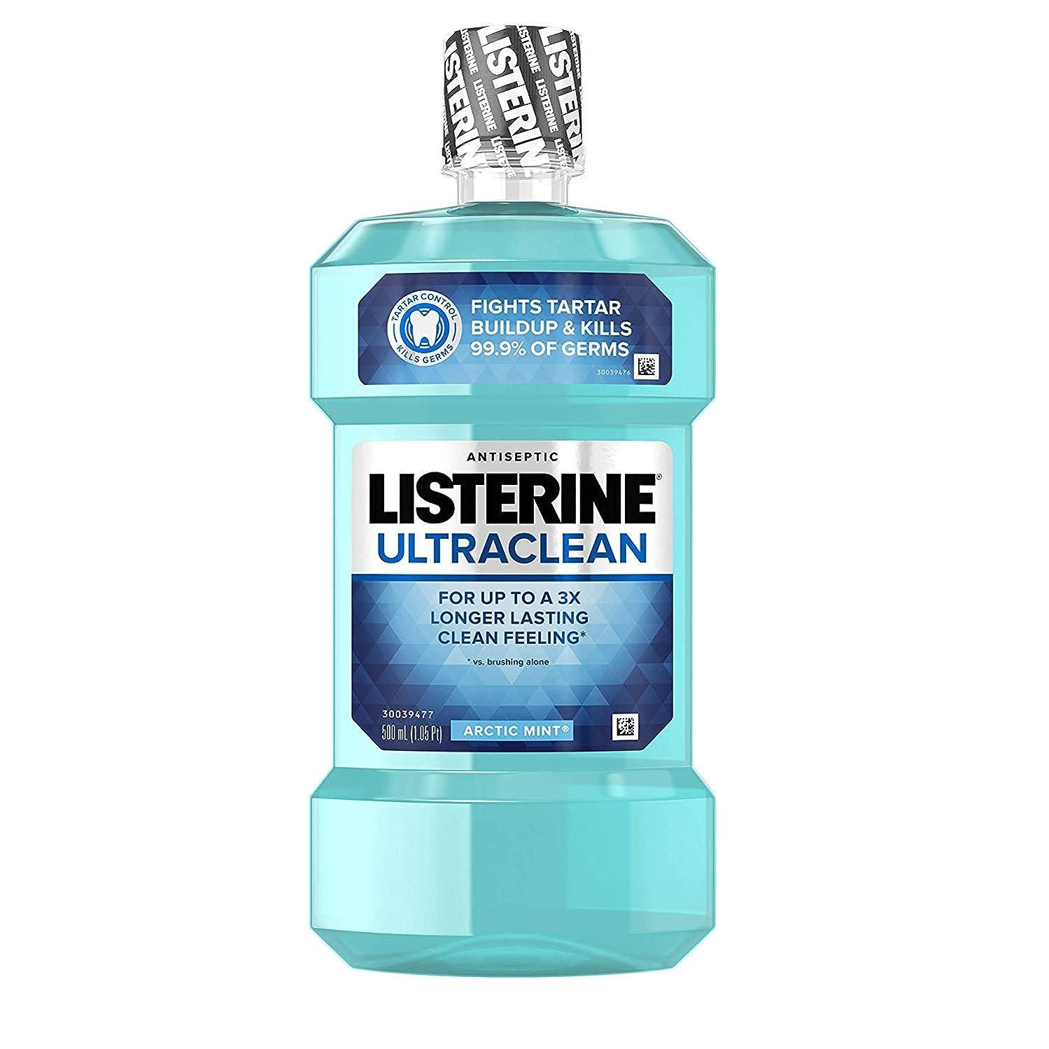 ぼかしゼロ早熟Listerine ウルトラクリーン消毒うがい薬北極ミント - 16.9オズ、6パック