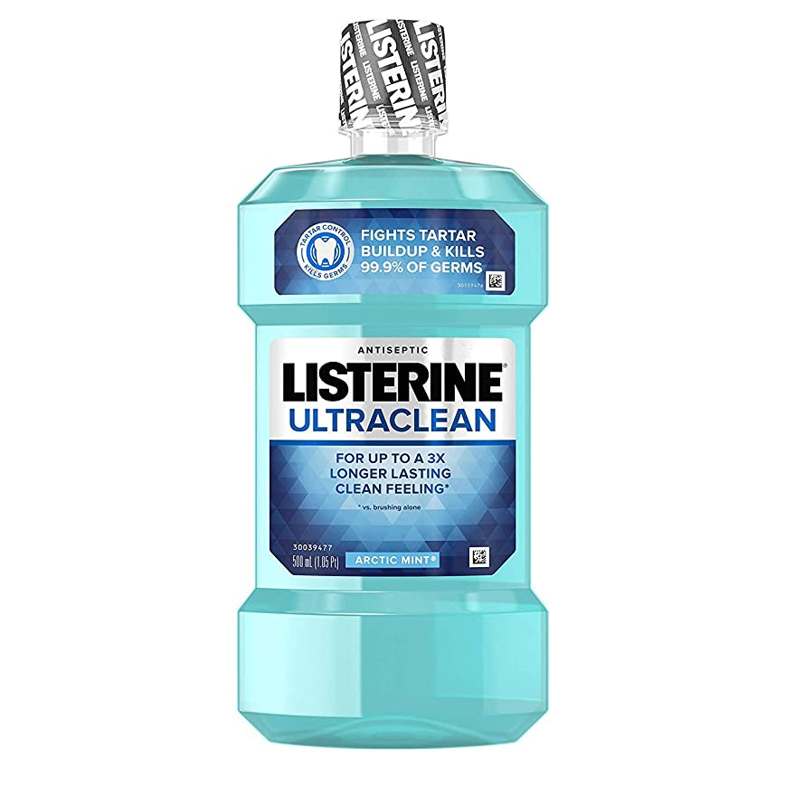 致命的なキャンパス偽善者Listerine ウルトラクリーン消毒うがい薬北極ミント - 16.9オズ、6パック