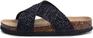 Sky-Pegasus Beautiful Sandals 2018 Summer Cork Slipper Women Casual Beach Slip On Slides Shoe Flat Plus Size