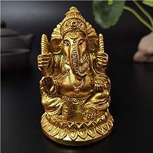 Golden Statue Buddha Elephant God Resin Sculpture Figurines Garden Flowerpot Decoration Buddha Statues