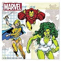 2021 Marvel: Heroes 壁掛けカレンダー 12インチ x 12インチ マンスリー (DDW28328)