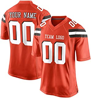 Custom Men's Football Jerseys Personalized Name Number for Christmas,Thanksgiving Interesting Gifts Cleveland T-Shirt