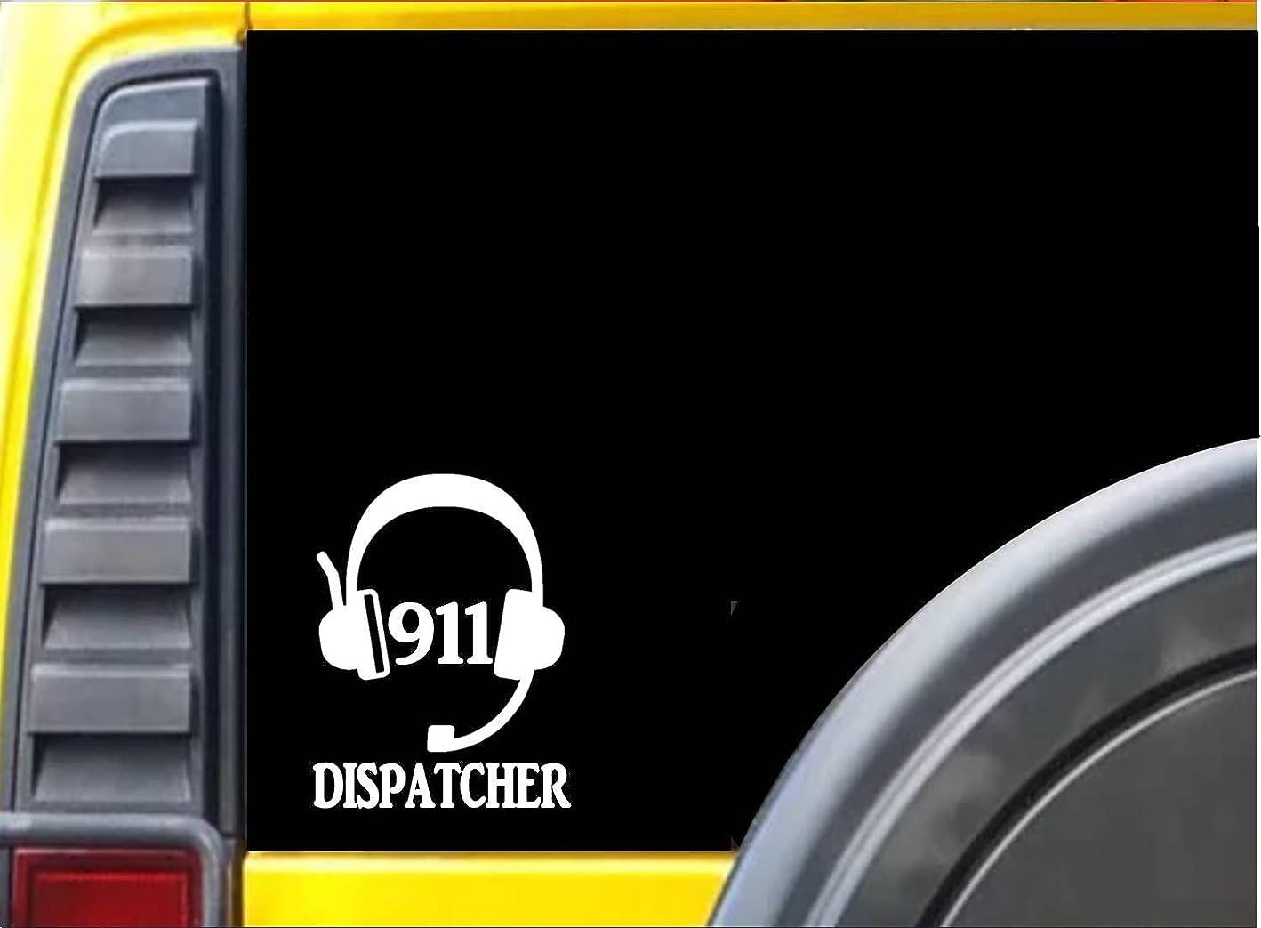 つぶす爆発物狂乱911ディスパッチャヘッドセットk488?6インチステッカーディスパッチデカール
