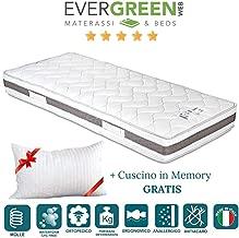 Evergreen Materassi.Amazon It Materasso Memory Foam Rigido Materassi Materassi