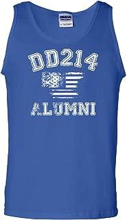 Tee Hunt DD214 Alumni Distressed American Flag Tank Top Military Veteran Sleeveless