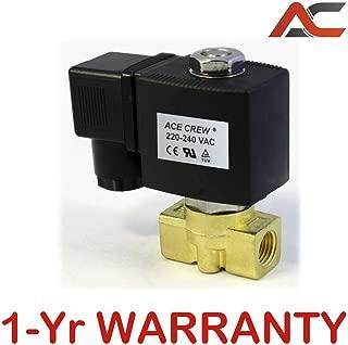 1/4 inch 220V-240V AC VAC Brass Electric Solenoid Valve NPT Gas Water Air N/C NC