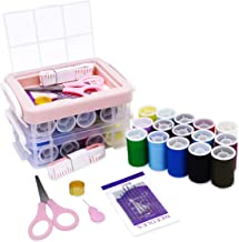 Mini Travel Sewing Kit for Adults Small Sewing Kits Supplies,Including Sewing Thread,Sewing Scissors,Sewing Needles in Sewing Box