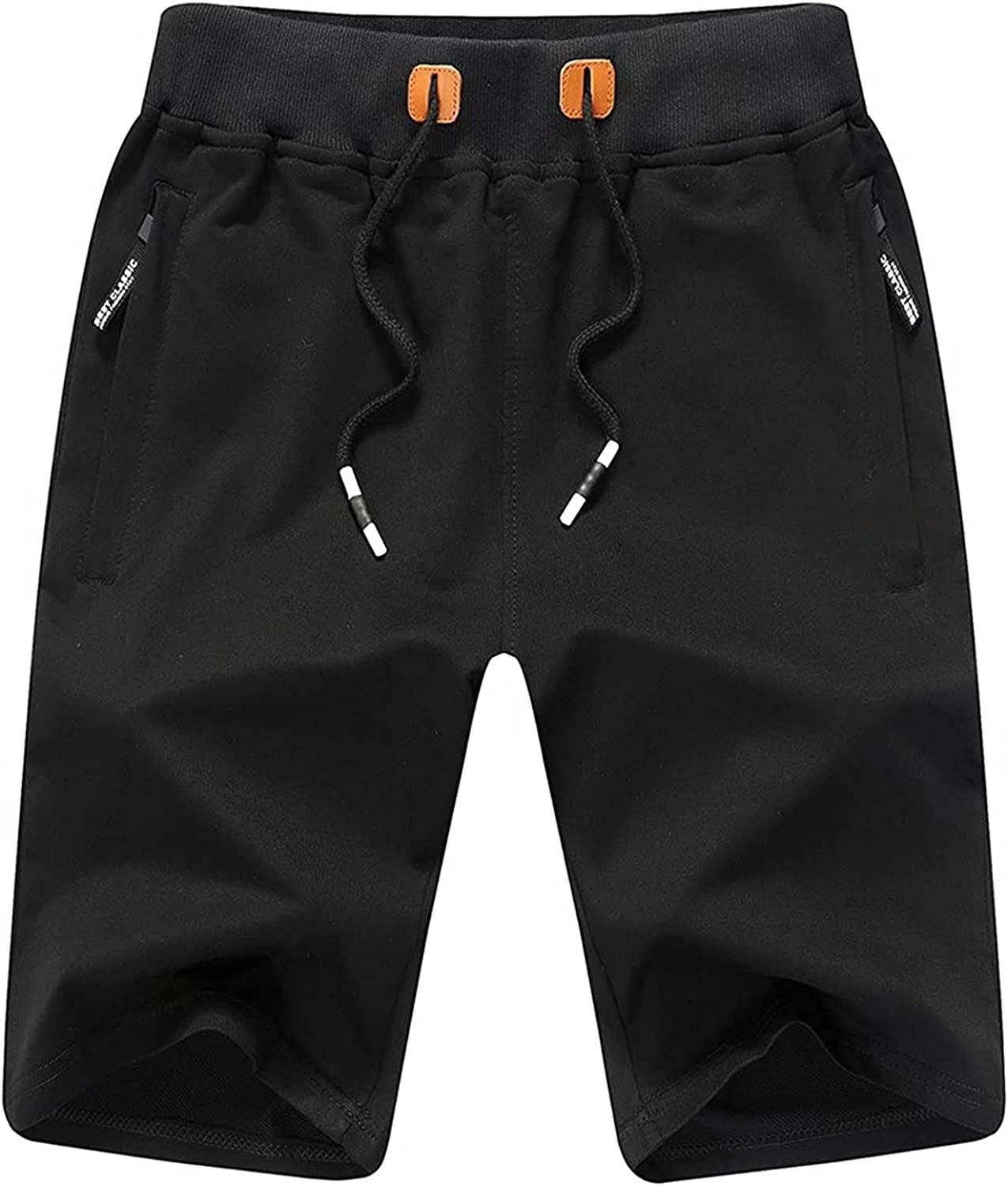 Men's Summer Sports Shorts Lace Up Athletic Shorts Casual Versatile Loose Sweat Pants with Zipper Pockets - Limsea