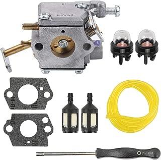 Yermax 300981002 Carburetor with Fuel Line Kit Adjustment Tool for Homelite 33cc Chainsaw Homelite UT-10532 UT-10926 Ryobi RY74003D Carb