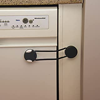 Qdos Adhesive Flexible Multi-Lock - Use on Cabinets, Furniture, Toilets, Appliances - Dishwashers, Microwaves, Washers, Dr...