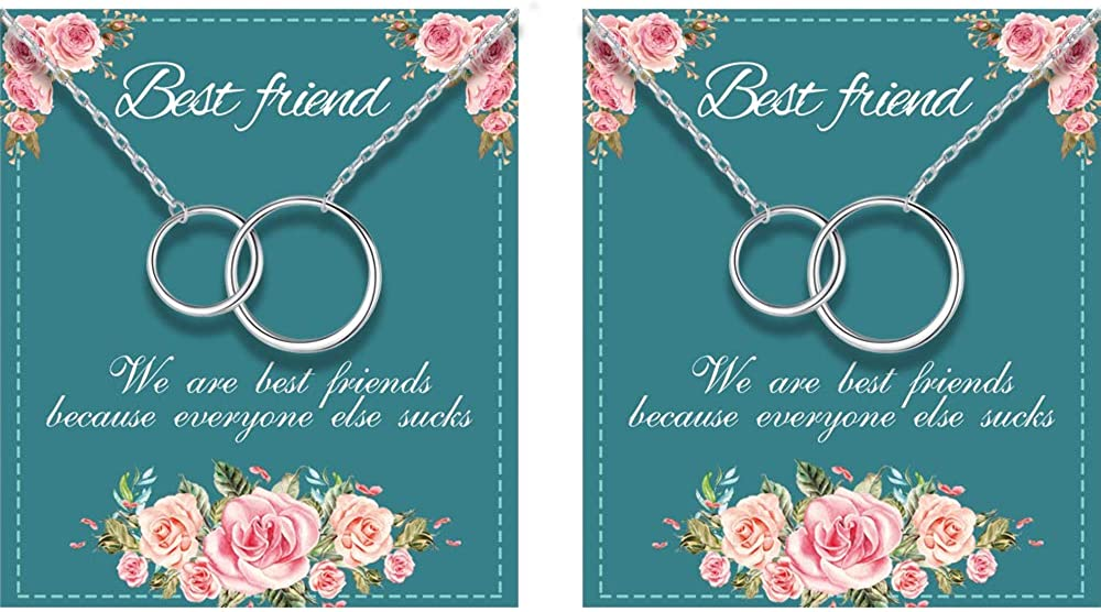 Best Friend Necklaces for price 2 Interlocking Silver Sterling Online limited product Circles