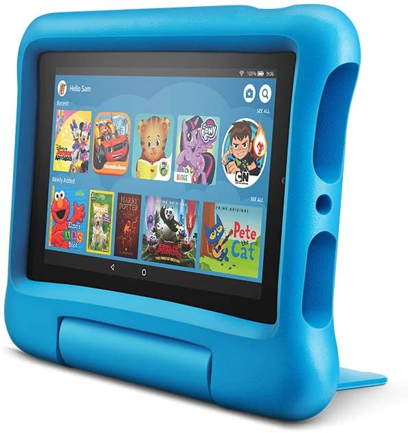 Fire 7 Kids Tablet, 7 Display, ages 3-7, 16 GB, Blue Kid-Proof Case
