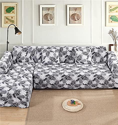 WXQY Funda de sofá Funda de sofá Impresa Sala de Estar Esquina para Mascotas Funda de sofá Chaise Longue en Forma de L Funda de sofá elástica Funda de sofá A15 3 plazas