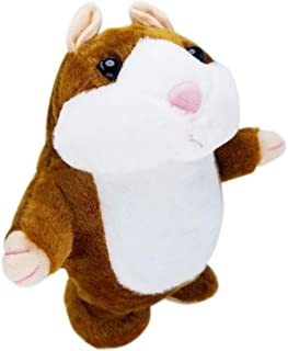 Best Upgrade Version Talking Hamster Mouse Toy - Repeats What You Say and Can Walk - Electronic Pet Talking Plush Buddy Hamster Mouse for Kids Gift Party Toys (Brown)... Review