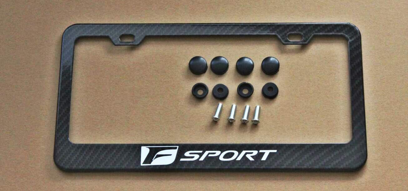 Armertek F-Sport Store Logo Carbon Fiber-Look License Frame Lowest price challenge Cove Plate