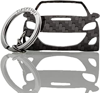 BlackStuff Carbon Karbonfaser Schlüsselanhänger Kompatibel mit Mazda 3 2009 2013 MPS BS 638