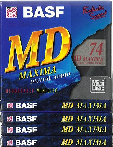 BASF MD74Maxima Digital Audio beschreibbare Minidiscs (Mini Disc) 5x 74min–5Stück