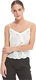 Stradivarius Cami & Strappy Tops For Women, L, White