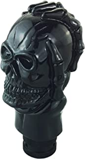 Abfer Universal Shift Knob Skull Car Gear Shifting Stick Lever Shifter Knob Replacement Devil Shape Fit Most Manual Automatic Vehicles Truckss (Black)