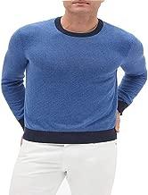 Banana Republic Stripe Multi Texture Pullover Sweater-Navy Combo