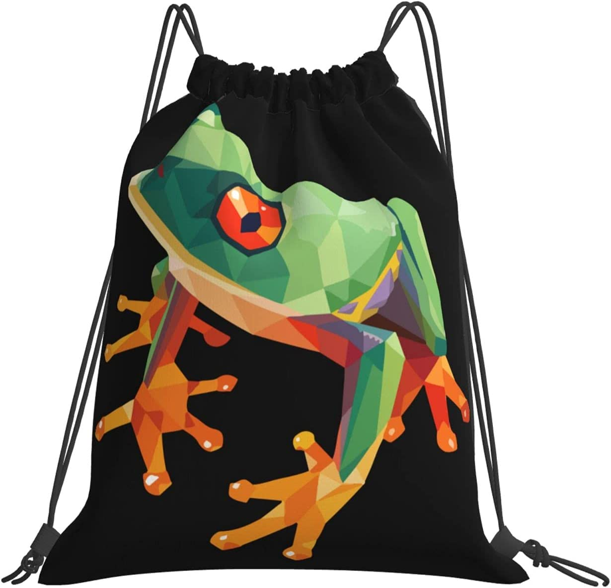 Geometric Tree Frog Drawstring Backpack Multi Purpose La 67% OFF of fixed price Bag Special price for a limited time Gym