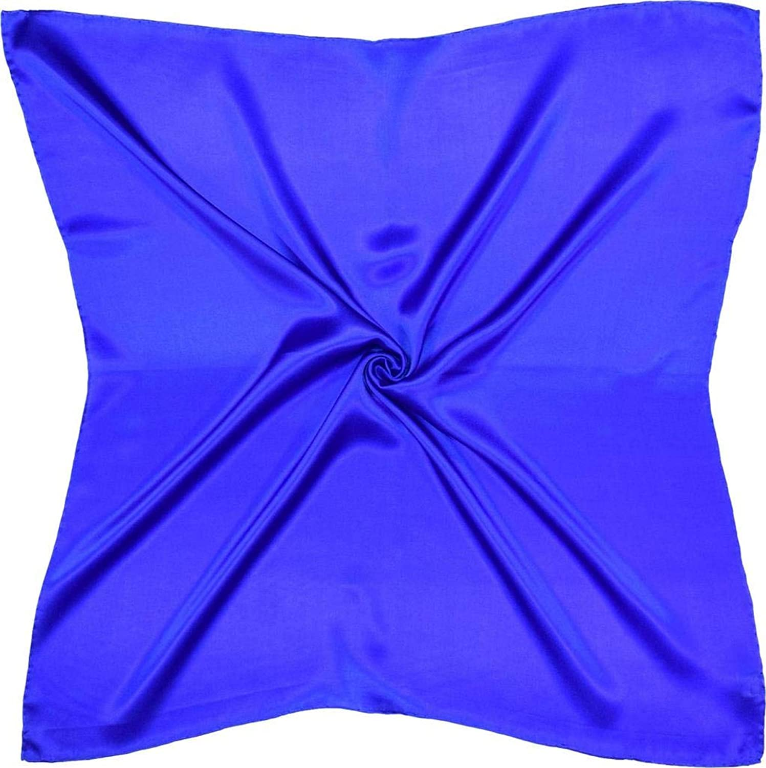 bluee Thick Silk Square Scarf