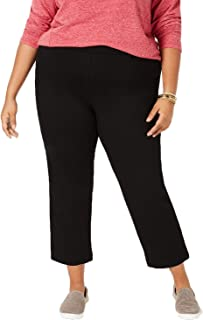 Style & Co. Womens Plus Comfort Waist Mid-Rise Cropped Pants Black 24W